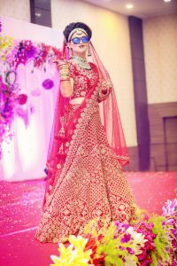 ankita vaibhav wedding bridal look