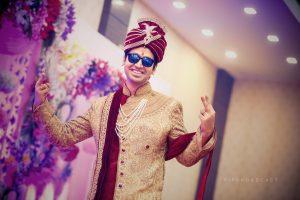 ankita vaibhav wedding groom swag
